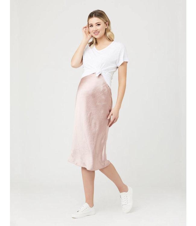 Ripe Lexie satin skirt Dusty pink