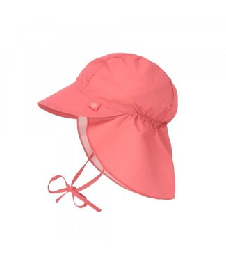 Lassig Sun Protection Flap Hat  Rosewood