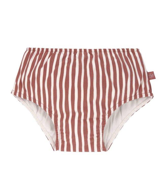 Lassig Swim Diaper stripes red
