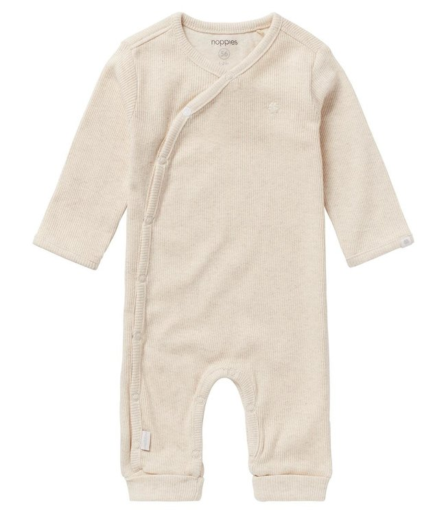 Noppies Baby Playsuit rib Nevis Oatmeal