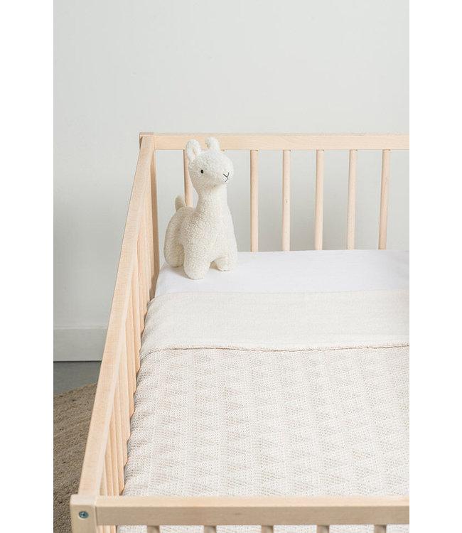Jollein Deken 75x 100cm river knit cream white