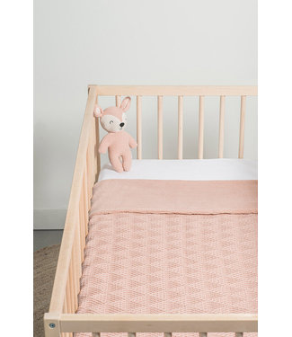 Jollein Deken 75x 100cm river knit pale pink