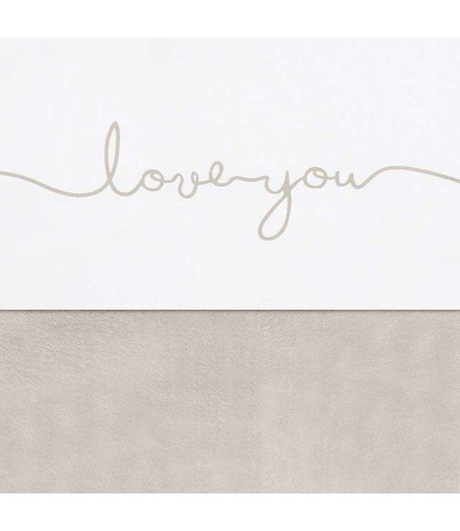 Jollein Laken 75x00 love you nougat