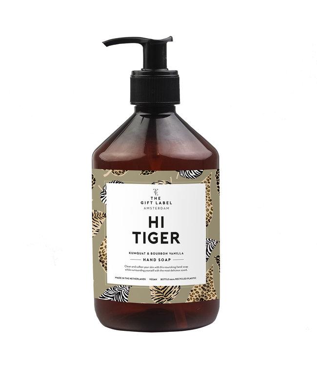 The gift label Hand soap  Hi tiger