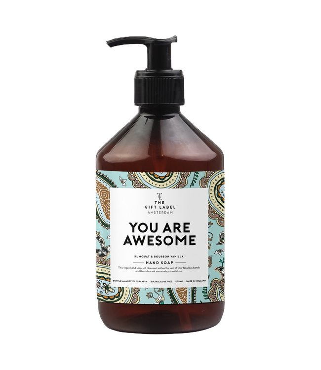 The gift label Hand soap You are awesome