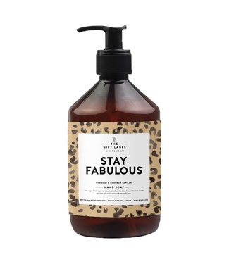 The gift label Hand soap Stay fabulous