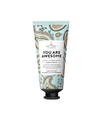 The gift label Hand cream You are awesome