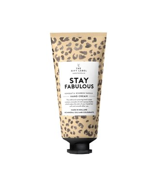 The gift label Hand cream Stay  fabulous