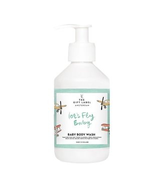The gift label Baby bodywash- Let's fly away