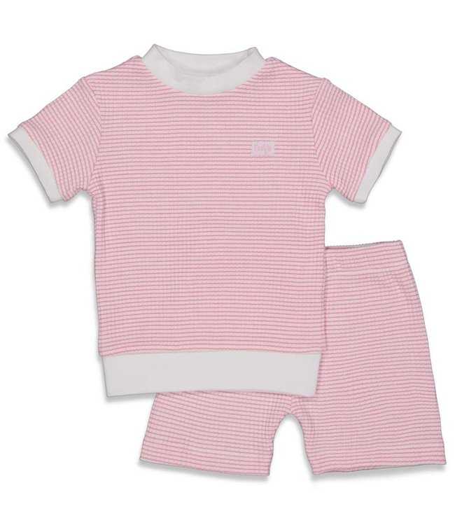 Feetje Wafel pyjama kort Roze