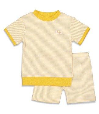 Feetje Wafel pyjama kort Geel