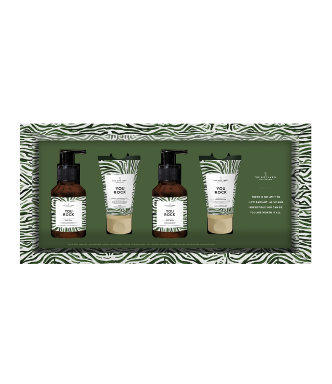 The gift label Luxe giftset- you rock