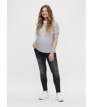 Mamalicious MLCALIFORNIEN slim jeans - Dark grey denim