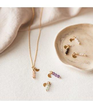 Mom gemstone Gemstone power ketting goud