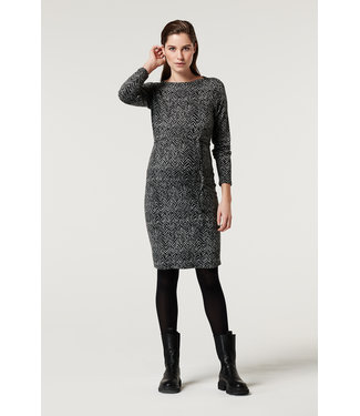 Supermom Dress ls AOP V-Print