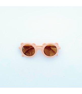 Feestbeest Zonnebril roze oortjes