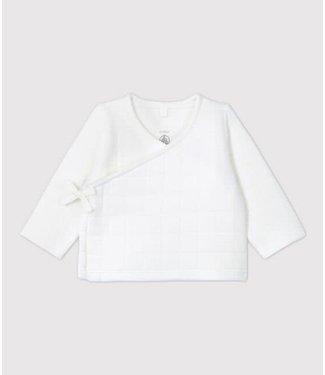 Petit Bateau Gewatteerd vestje wit