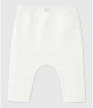 Petit Bateau Gewatteerd broekje wit