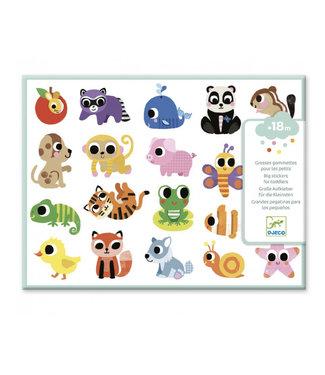 Djeco Grote stickers babydieren