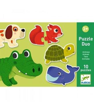 Djeco Duo puzzel dieren
