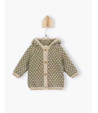Arsene et les Pipelettes Jacquard hooded  jacket