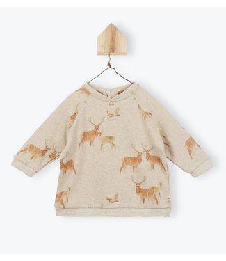 Arsene et les Pipelettes Deer print sweater