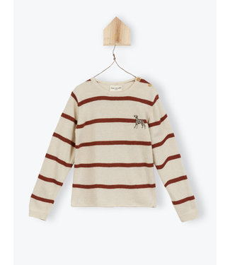Arsene et les Pipelettes Striped knit jumper