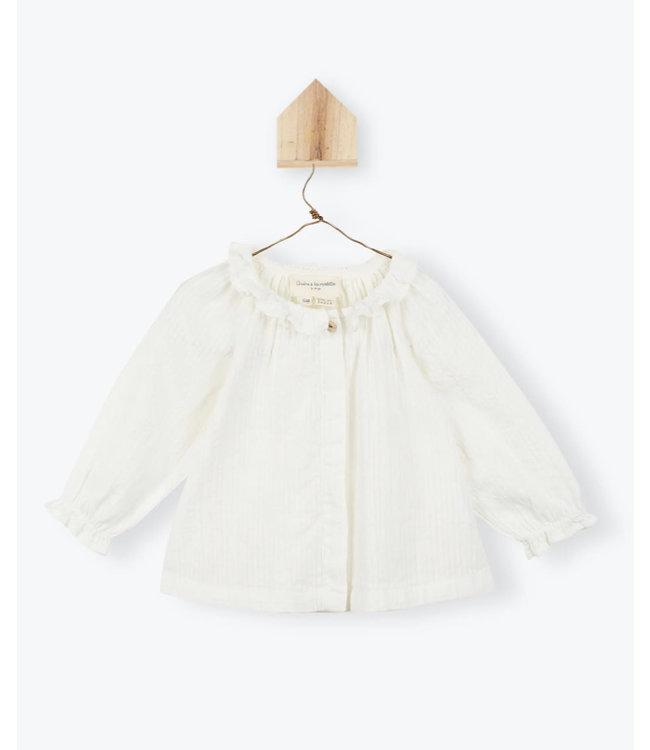 Arsene et les Pipelettes Cotton veil baby blouse