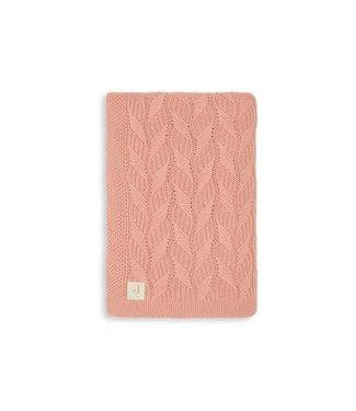 Jollein Deken 75x100 cm Spring knit Rosewood/coral fleece