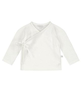 Mats en Merthe Overslag vestje off white
