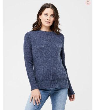 Ripe Dream nursing knit with zipper navy