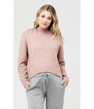 Ripe Ripe Jade Crop Nursing Knit Dusty Pink