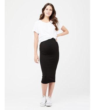 Ripe Ripe Ribbed Knit Pencil Skirt Black