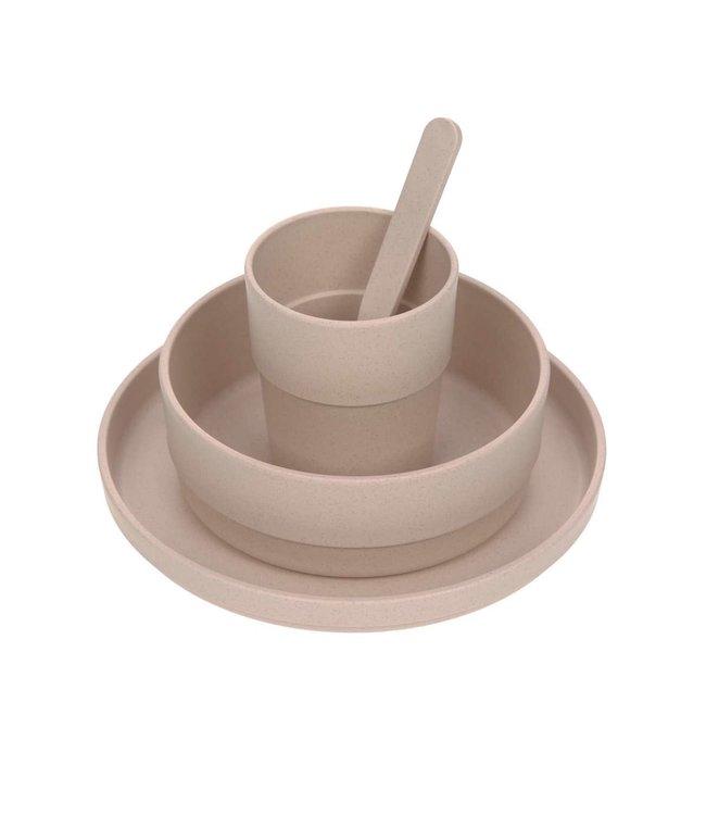 Lassig Dish set PP/cellulose Powder pink