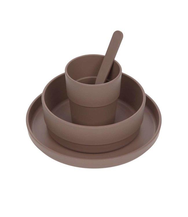 Lassig Dish set PP/cellulose Choco
