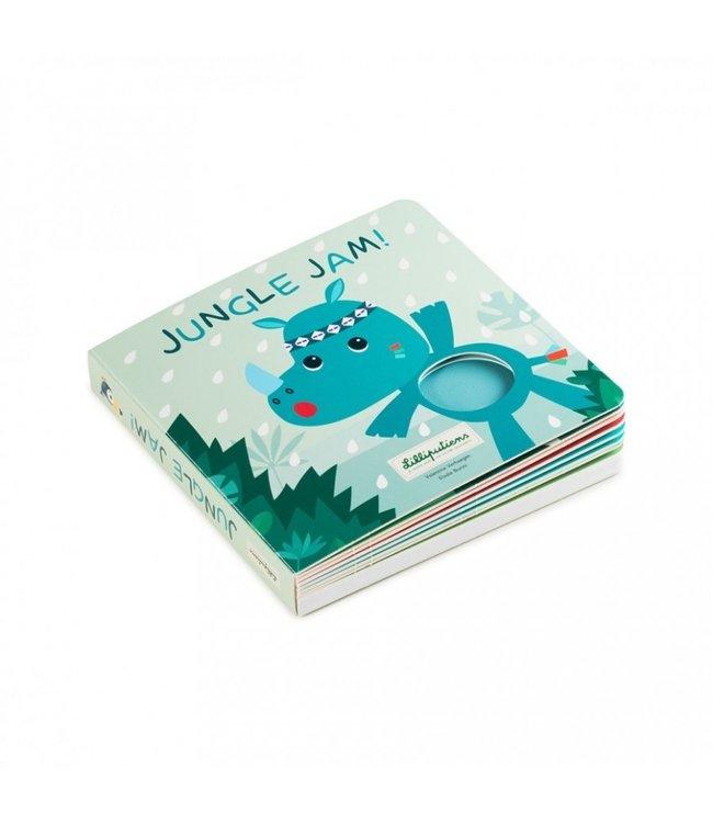 Lilliputiens Jungle Jam. Voelboek met geluiden