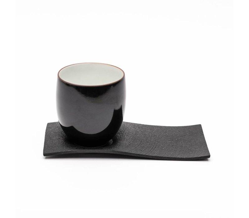 Japan Chushin Kobo porselein kopje met schotel