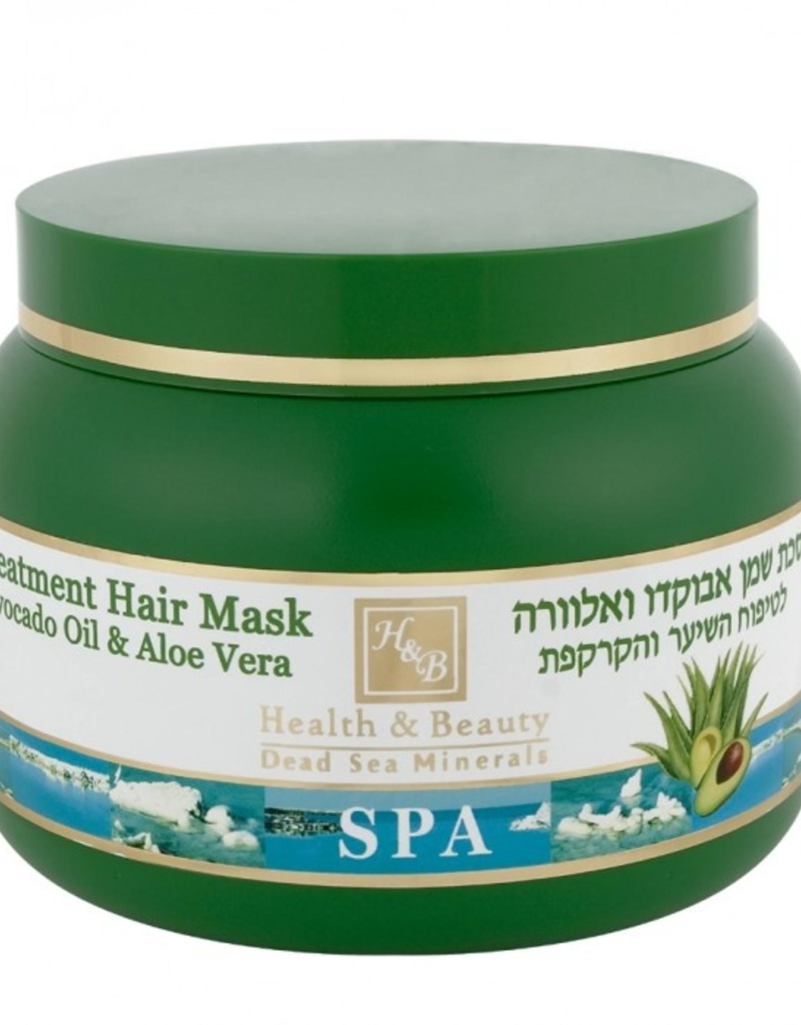H&B Dead Sea Minerals Avocado/Aloë vera haarmasker; 250 ml.