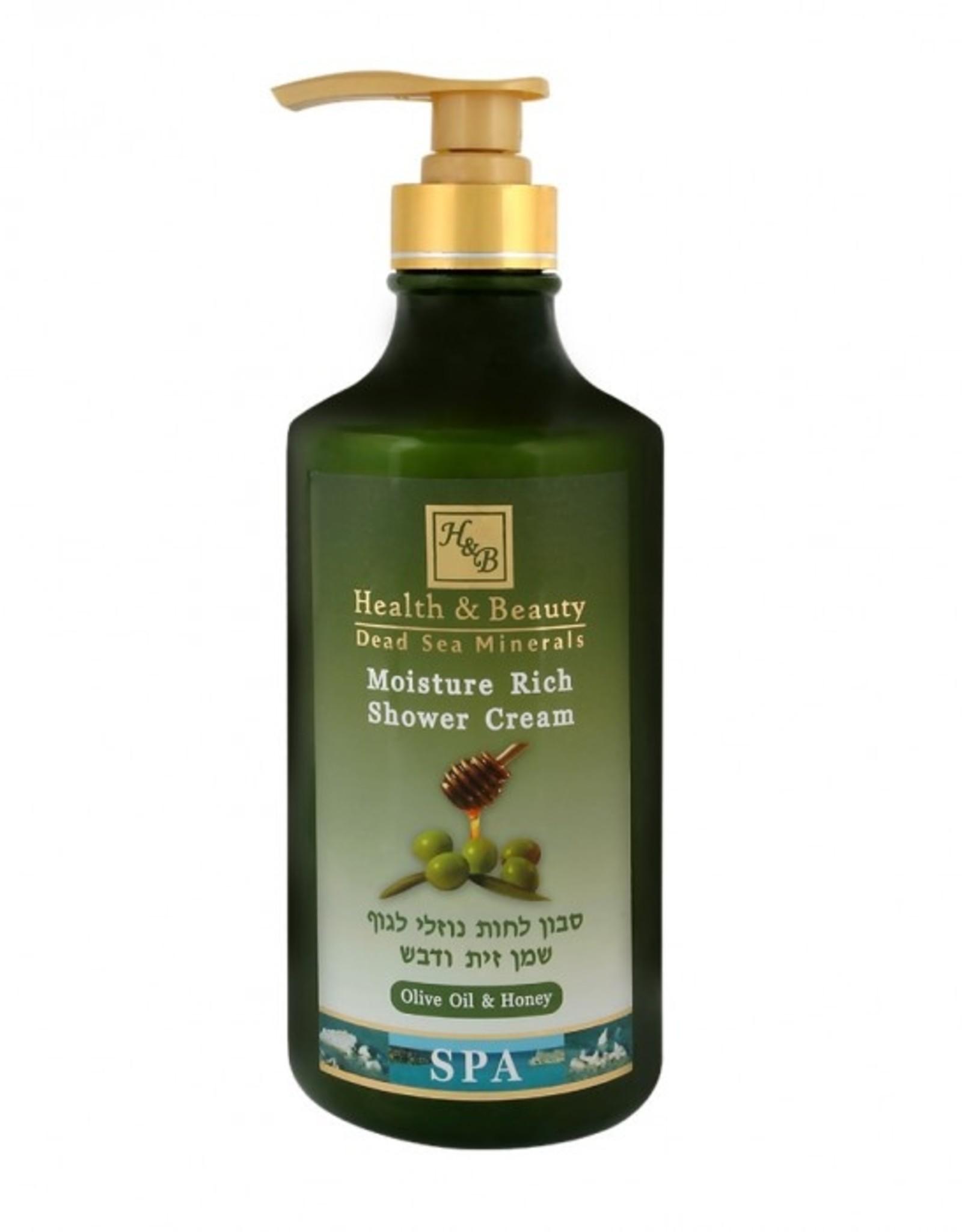H&B Dead Sea Minerals Bad- en douchegel olijfolie & honing; 780 ml.