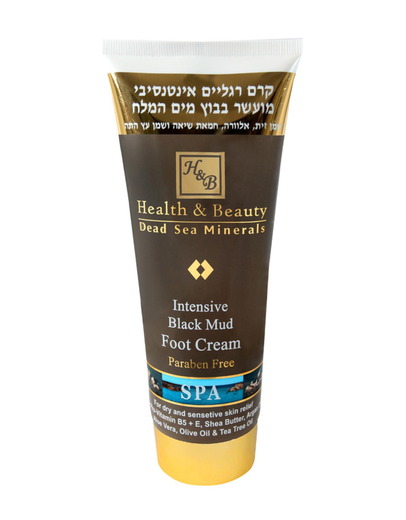 H&B Dead Sea Minerals Voetcrème met dode zee modder - intensief; 200 ml.