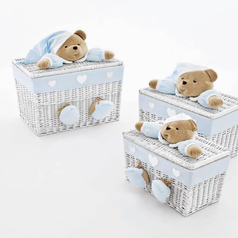 Nanan Nanan Medium Blue Toy Box