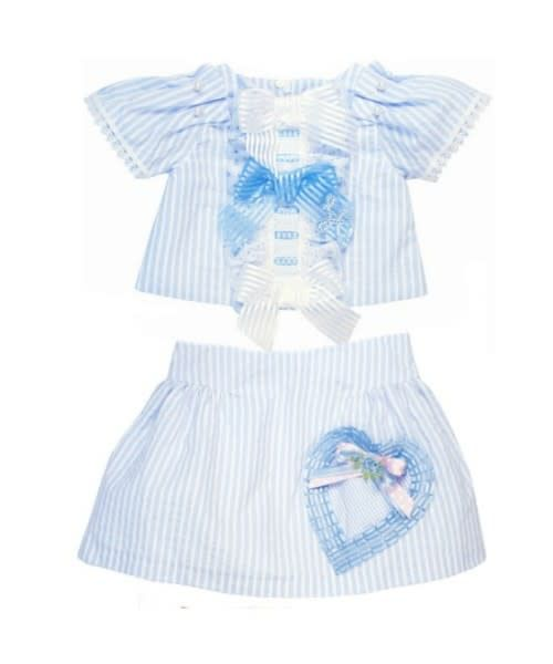 Little Darlings Little Darlings Striped Two Piece Skirt and Top