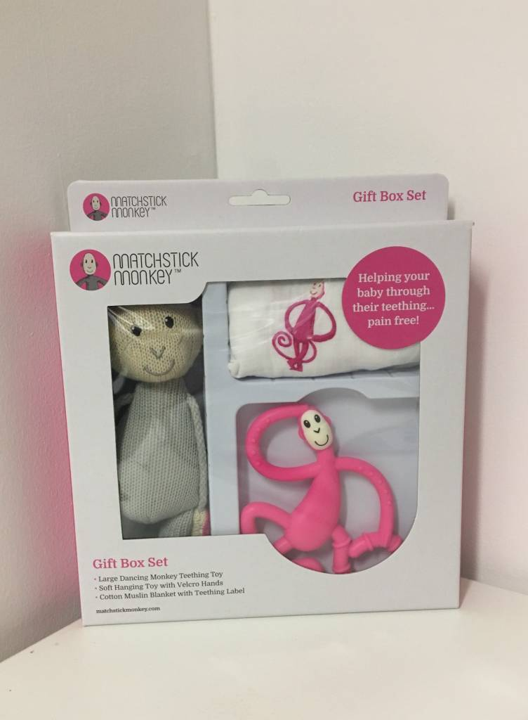 Matchstick Monkey Gift Box Set - Pink