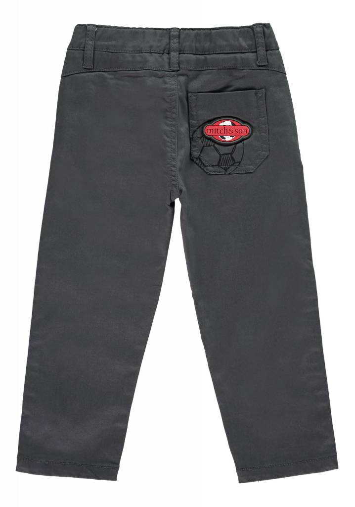 Mitch and Son Mitch & Son Silva Anthracite Canvas Trousers