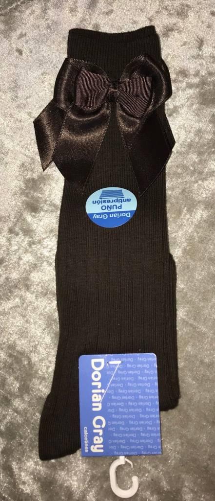 Dorian Gray Dorian Gray woolen knee high socks with bow
