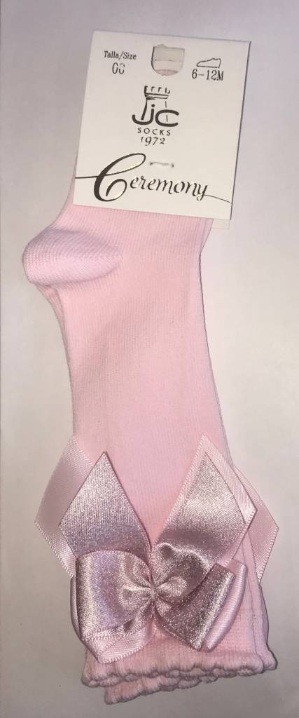 JC Socks JC Pink Knee High bow Socks