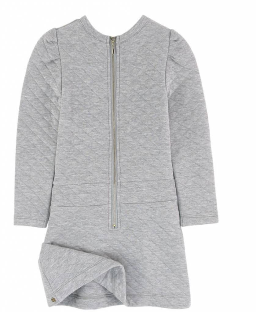 Lili Gaufrette Lili Gaufrette Padded Grey Dress