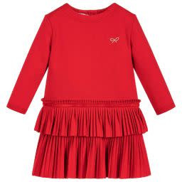 Lili Gaufrette Lili Gaufrette Red Jersey Dress