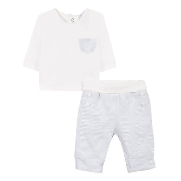 Absorba Absorba Boys Checked Two Piece Outfit