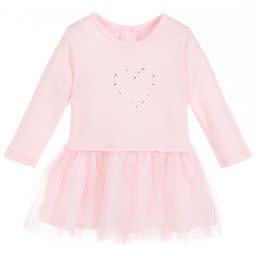 Absorba Absorba Girls Pink Swarovski Cotton Dress